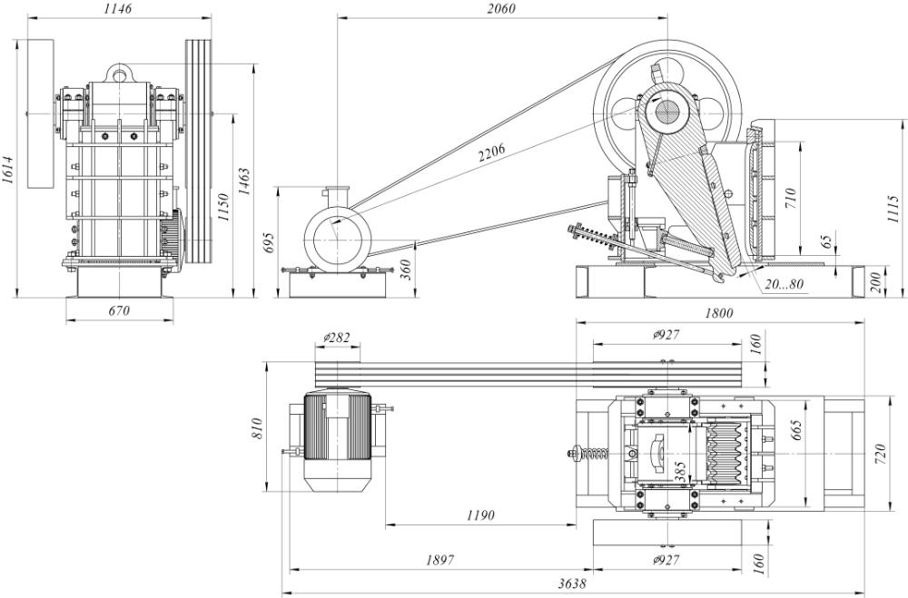 Щековая дробилка чертеж в Белово работа щековой дробилки в Обнинск