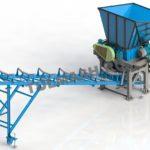 Дробильная установка для измельчения мела