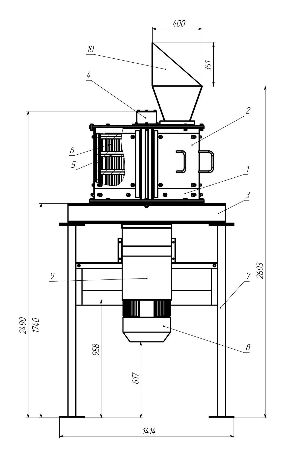 Вертикальная дробилкаВД-300