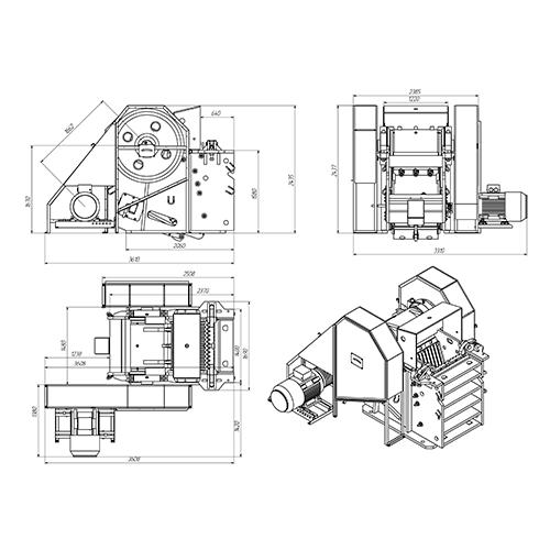 Дробилка щековая СДС 600*900 (СМД 110А)