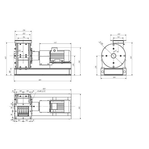 Молотковая дробилка МПС-150