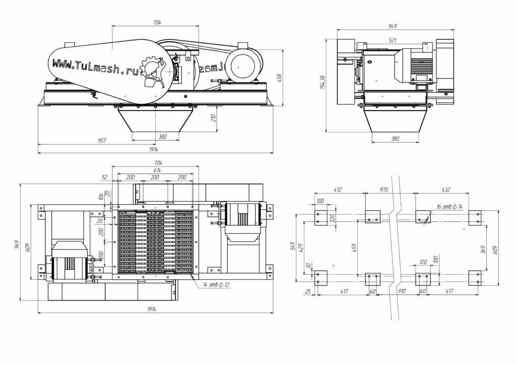 Роторно-дисковый измельчитель РДИ-350