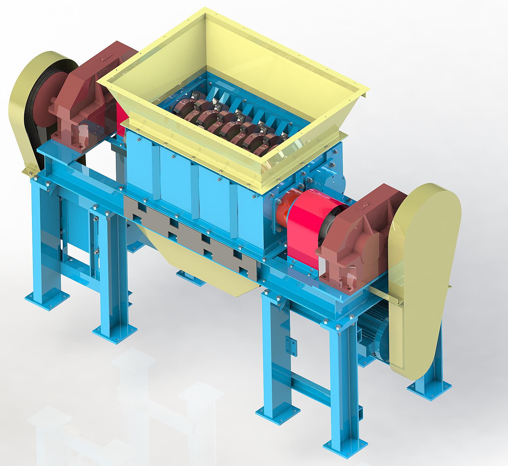 Шредер двухвальный ШР-430