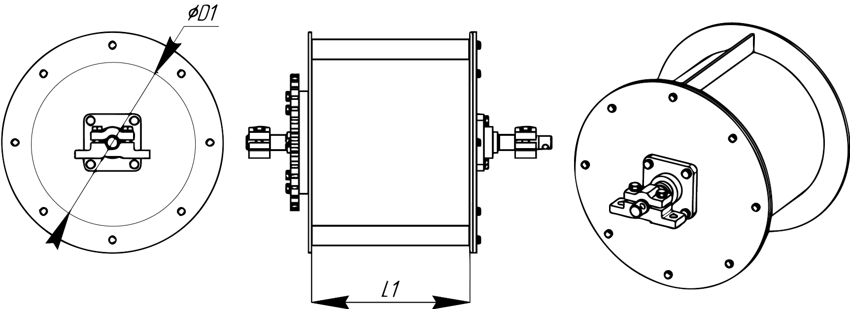 Секторный магнитный барабан МБСФ