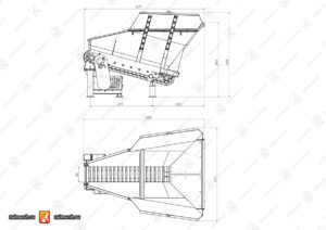 Габаритный чертеж_питатель пластинчатый П-804