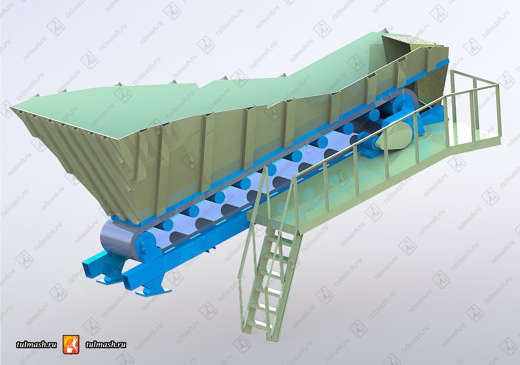 Пластинчатый питатель ПЛП 12 конвейер ленточный клс с 650