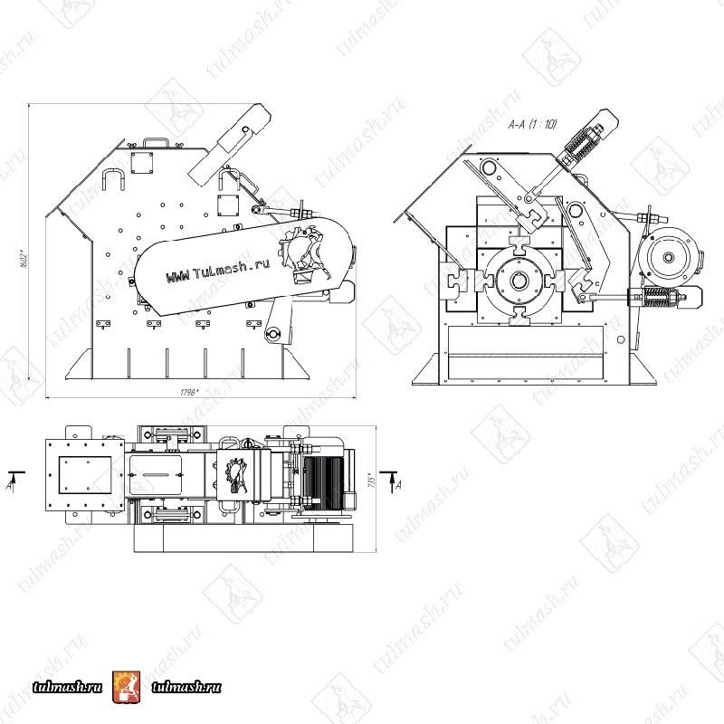 Роторная дробилка СМД 5