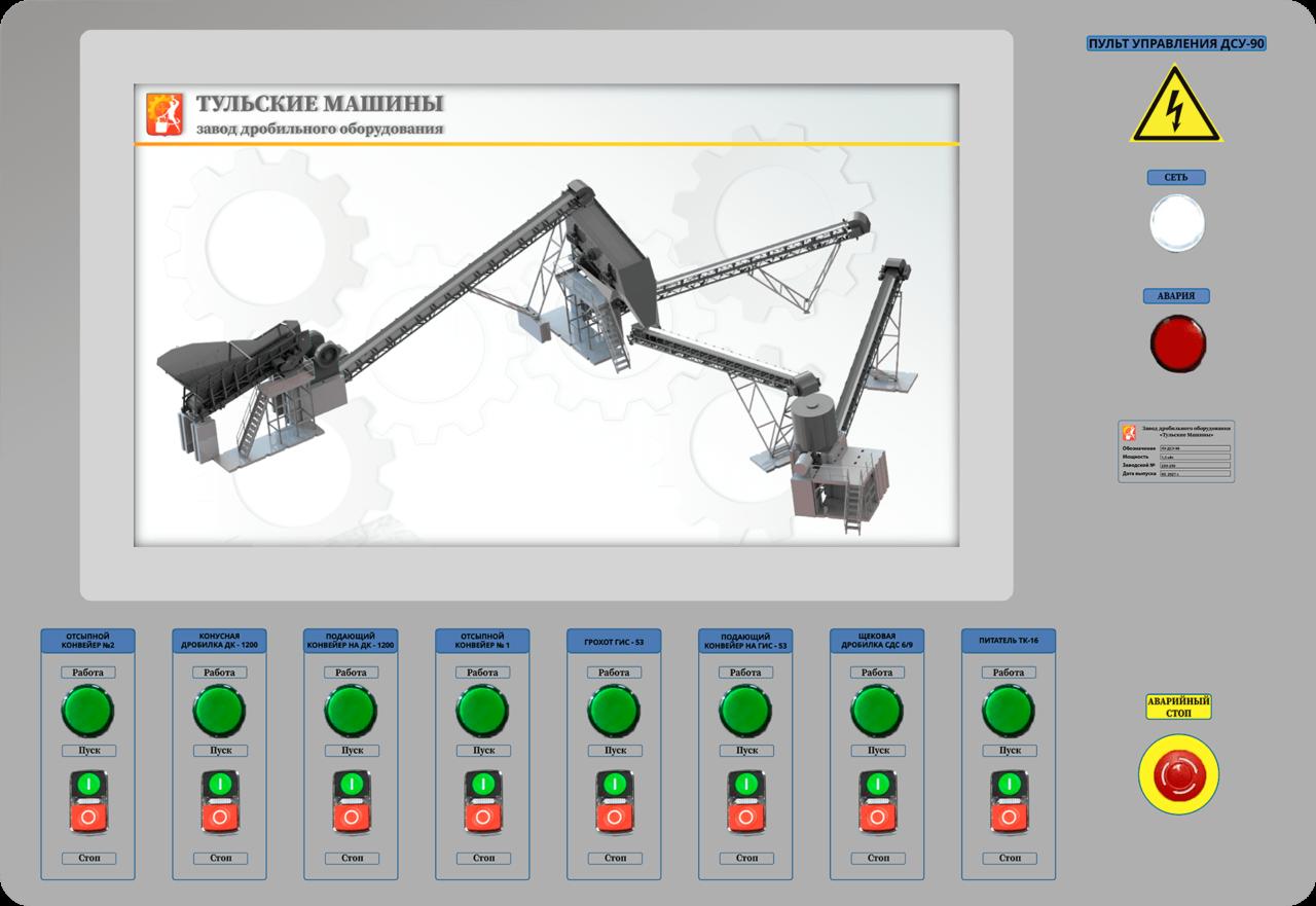 Автоматизированная система управления дробильно-сортировочным комплексом