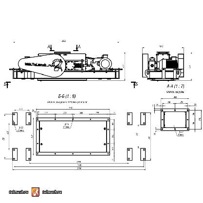 Дробилка валковая с гладкими валками ДВГ 400х250