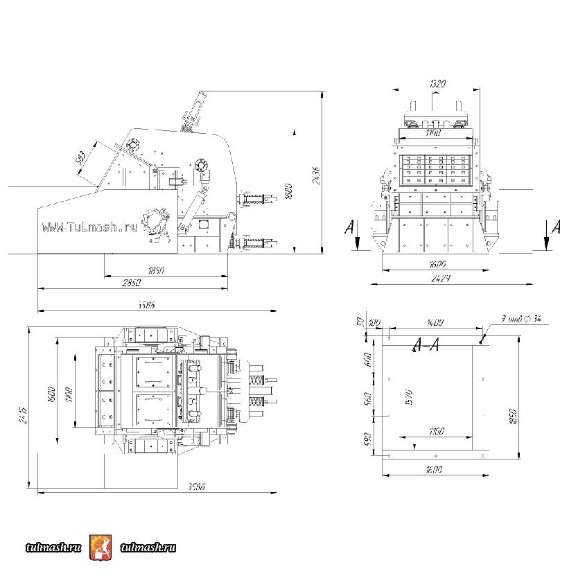 Роторная дробилка ДР-100