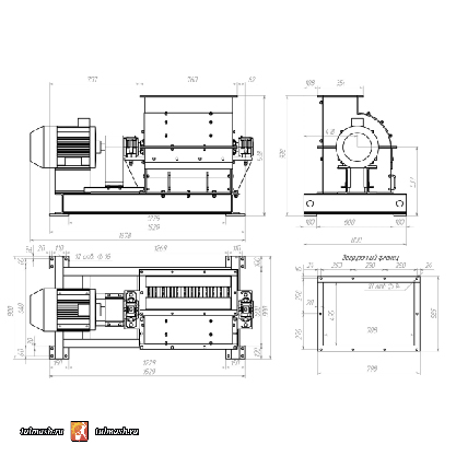Молотковая дробилка МПС 600