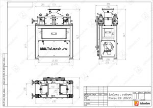 Дробилка с гладкими валками ДВГ 200х125